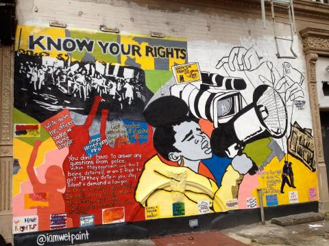 Harlem Know Your Rights Mural 2013