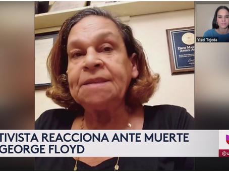 """[Univision] """"Son racistas"""": activista en Nueva York cuestiona a la policía de Minneapolis"""