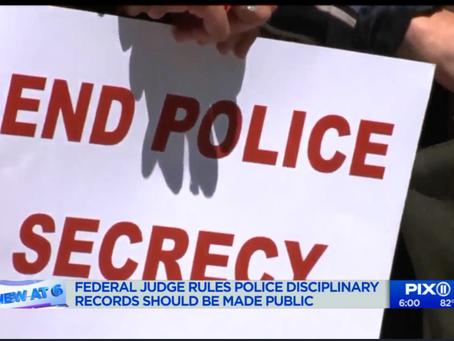 [Pix 11] Judge lifts veil on NYC police discipline records