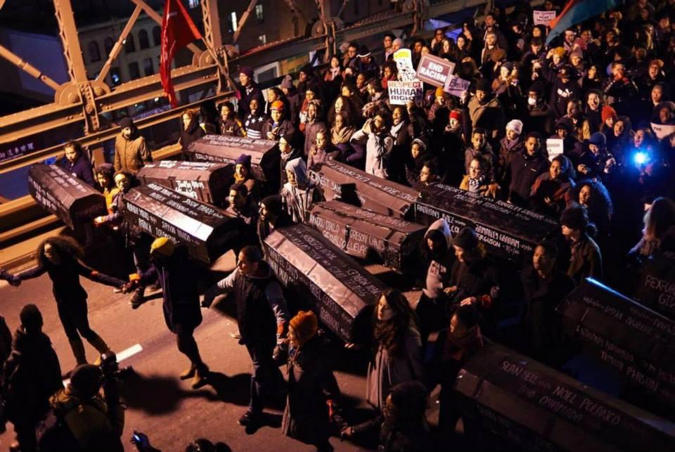 ThisStopsToday Coffins on Bk Bridge 12-14
