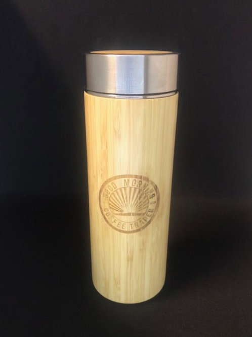 12oz Bamboo Thermos Cup