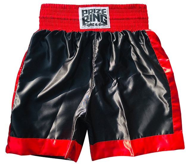 PRIZE RING Boxing shorts / Black & Red / M, XL