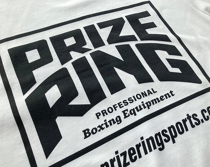 PRIZE RING Logo TEE White/Black