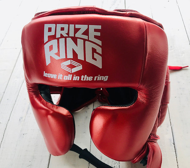 "PRIZE RING ""Premier"" Headguard Metallic red M"