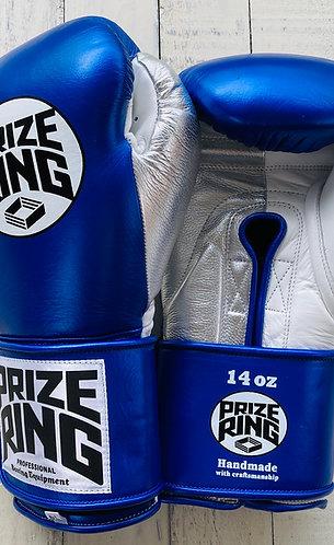 "PRIZE RING ""Pro-Training"" boxing gloves Shinny blue 8oz/10oz/14oz/16oz"