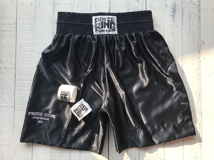 PRIZE RING Boxing shorts / Black / M, XL