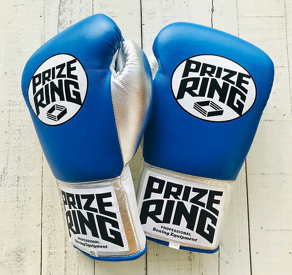 """PRIZE RING """"Pro-training"""" gloves Blue/Silver 8oz,10o"""