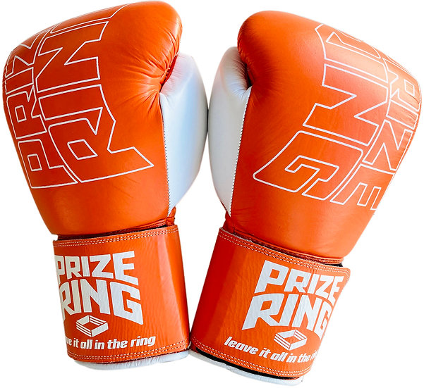 "PRIZE RING ""Professional 5.0"" boxing gloves Orange/White 10oz"