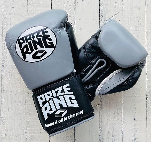 """Professional 5.0"" boxing gloves Grey/Black12oz,14oz"