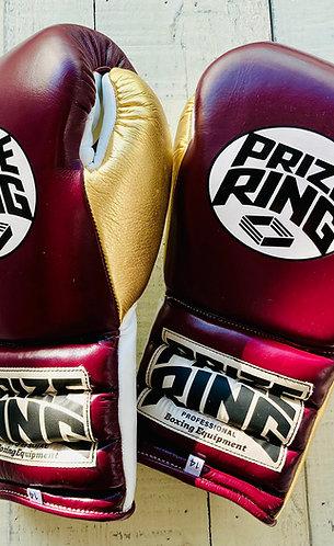 "PRIZE RING ""Pro-Training"" boxing gloves Maroon/Gold 14oz/16oz"