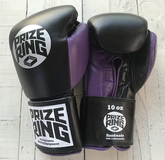 "PRIZE RING ""Professional 5.0"" boxing gloves BK/Purple 10oz"