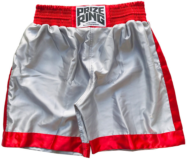 PRIZE RING Boxing shorts / Red & Silver / M, XL