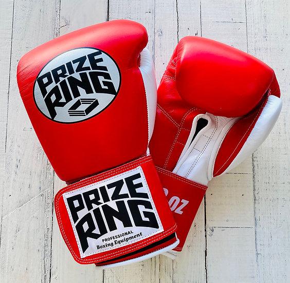 """Professional 5.0"" boxing gloves Red/White 10oz/12oz"