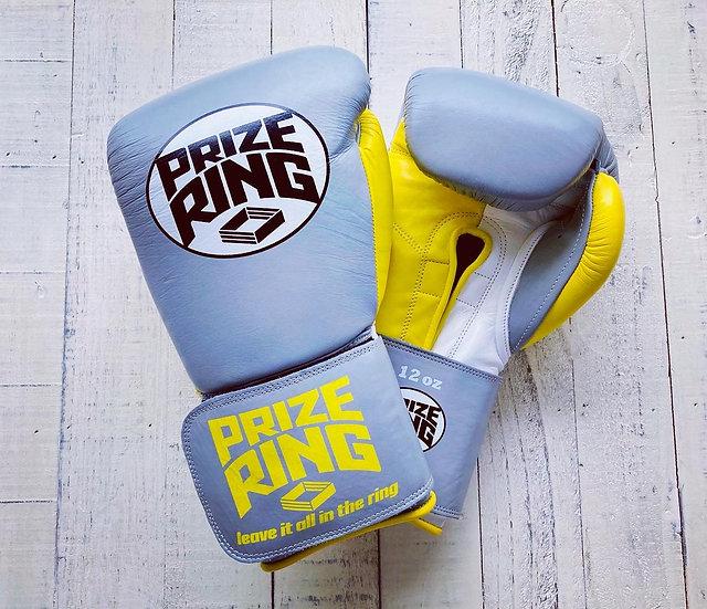 """Professional 5.0"" boxing gloves Grey/Yellow 12oz/14oz"
