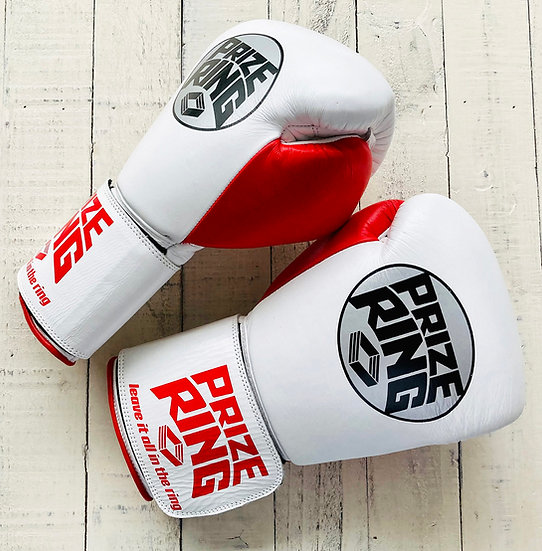 """""""Professional 5.0"""" boxing gloves White/Red 12oz"""