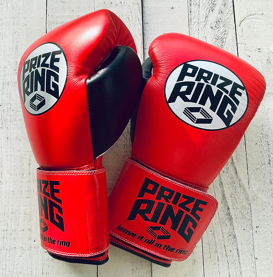 """PRIZE RING """"Professional 5.0"""" boxing gloves Red/Black 10oz"""