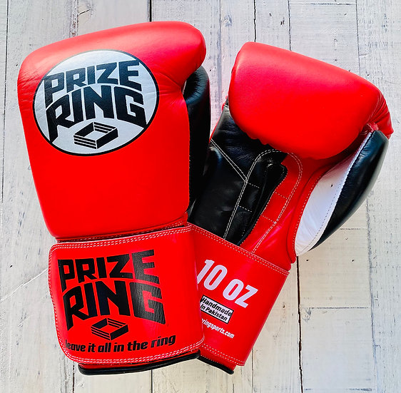 "PRIZE RING ""Professional 5.0"" boxing gloves Red/Black 10oz"