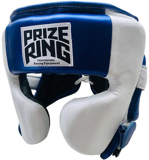 "PRIZE RING ""Pro-training"" Head guard White/Metallic blue"