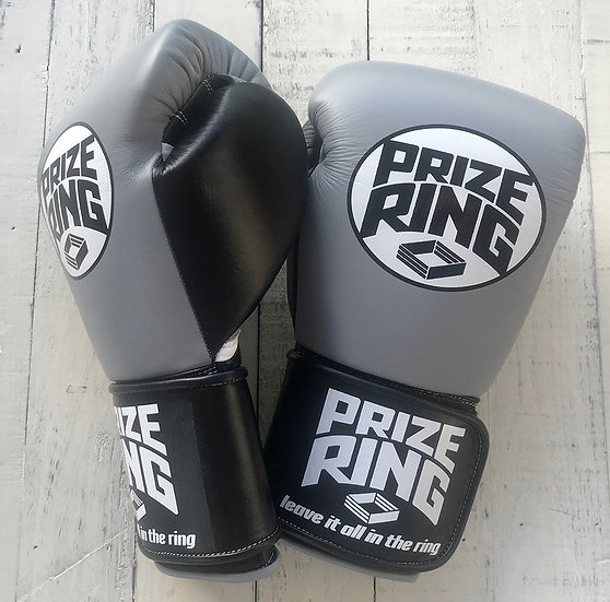 "PRIZE RING ""Professional 5.0"" boxing gloves Grey/Black 10oz"