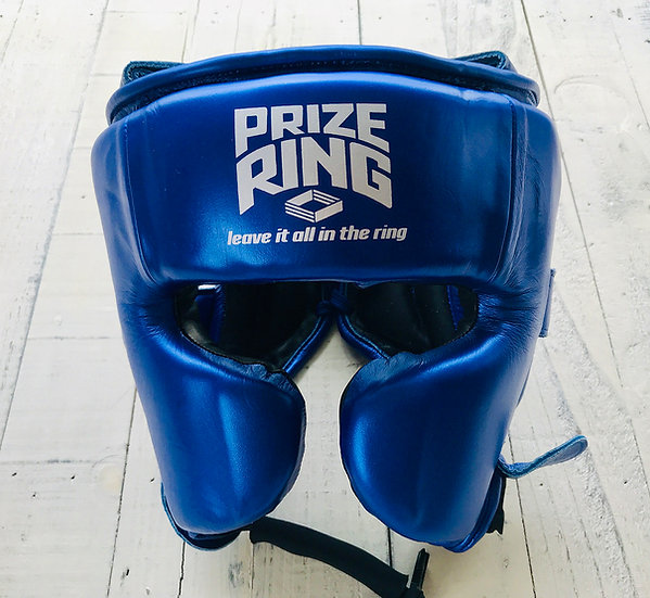 "PRIZE RING ""Premier"" Headguard Metallic blue M/L"