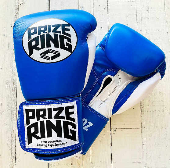 """Professional 5.0"" boxing gloves Blue/White 12oz"