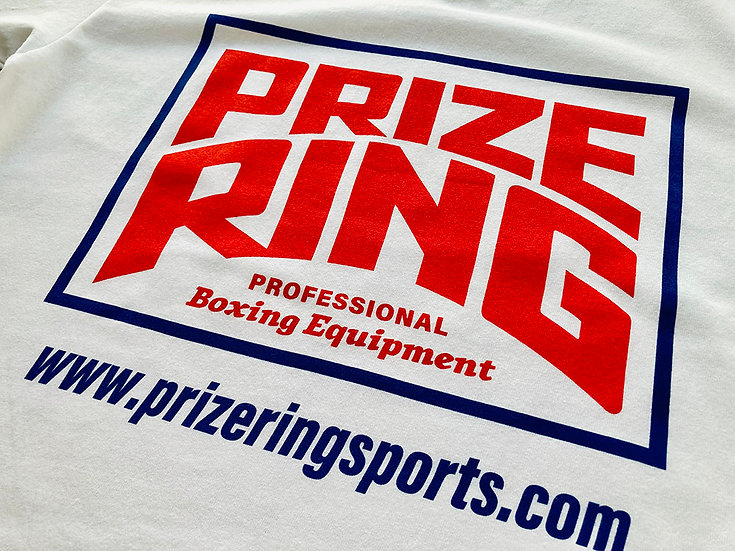 PRIZE RING Logo TEE White/Red