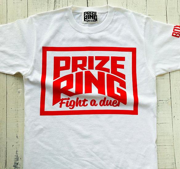 """PRIZE RING"" TEE / White / S, M, L, XL"