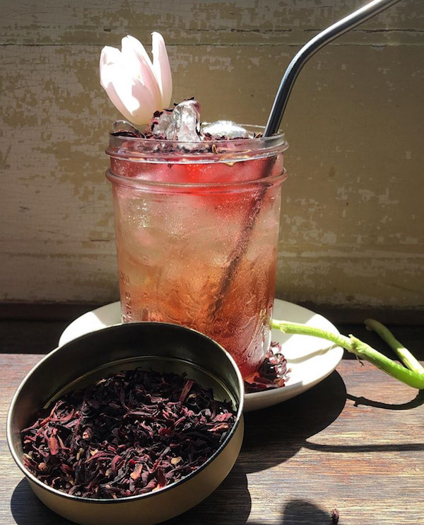 Hibiscus Almond Seltzer at Franny Lou's Porch