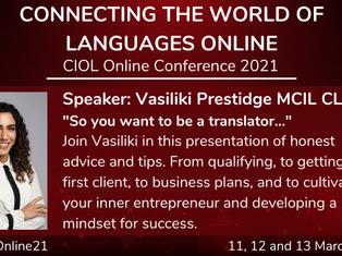 Vasiliki Prestidge presents at the CIOL Conference