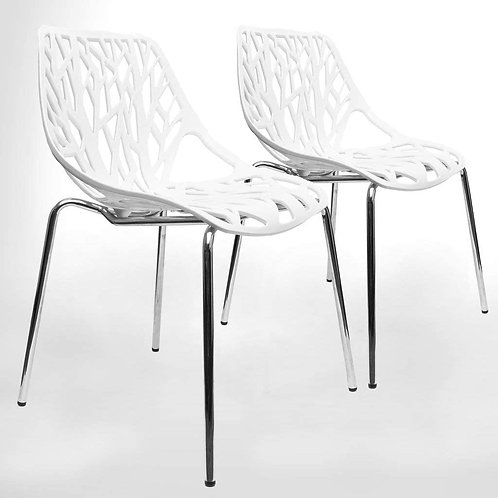 Cutout Dining Chairs x4