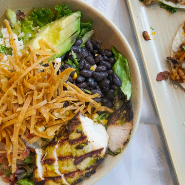 Chopped Salad Overhead - Poquitos - Both