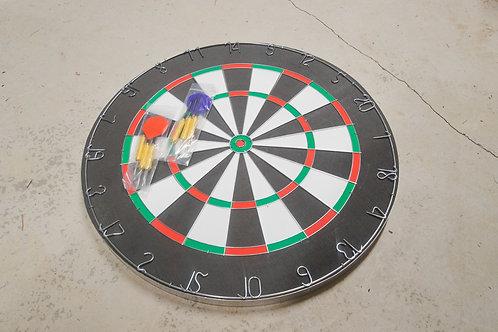 Wood Dartboard with Darts