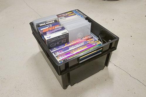 Bin of VHS