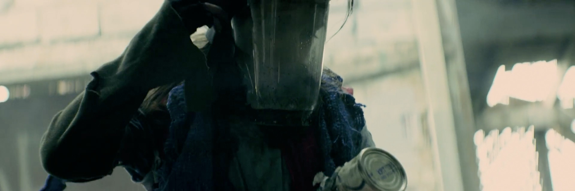 """Hand made gas mask to director's specifications, for Devin Sinha's """"Coming Home"""" music video, directed by Sam Nuttman"""