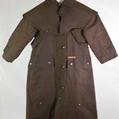 Brown Oiled Range Coat Duster
