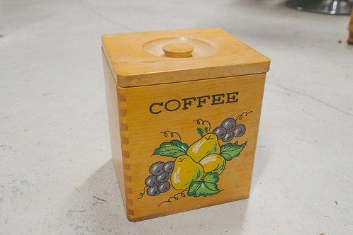 Vintage Wood Coffee Bin