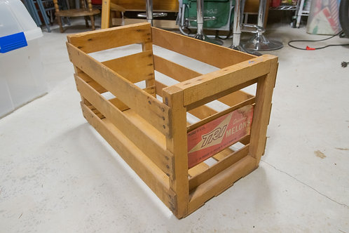 Vintage 70s Grocery Melon Crate