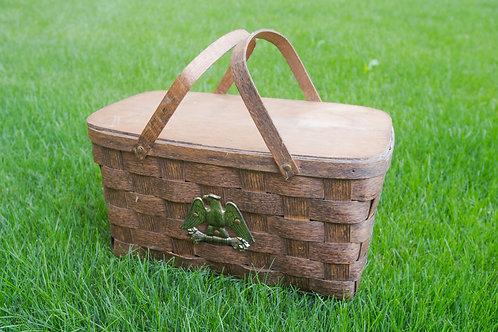 Wooden Picnic Basket