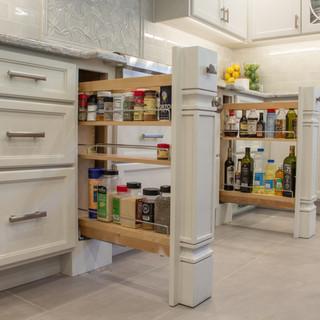 Transitional Kitchen Storage