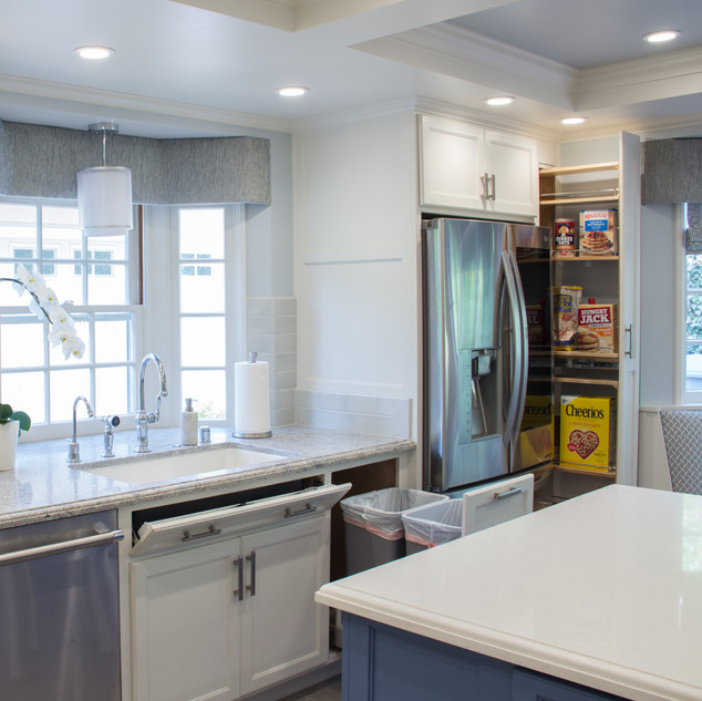 Transitional Kitchen Storage