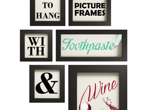 How to Hang Picture Frames Using Toothpaste and Wine