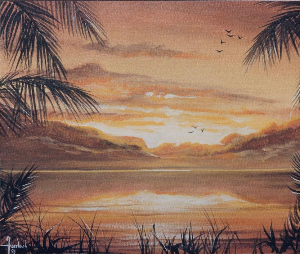 Decorative Painting of Tropical Sunsets in Broward and Palm Beach Counties