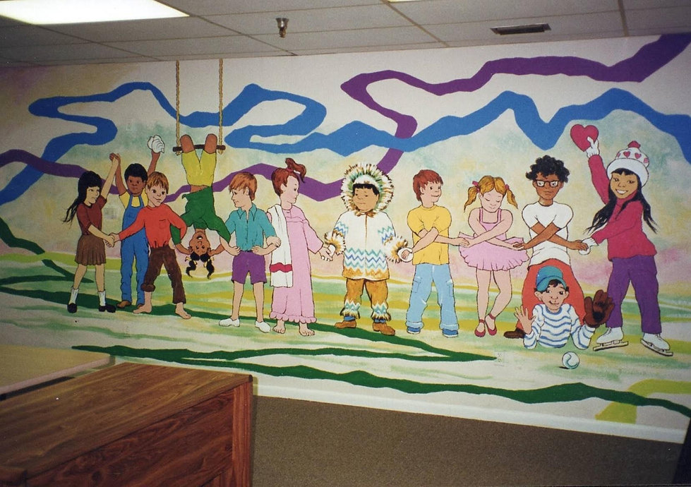 Sunday School ClassroomfeaturingCustom Mural and Decorative Painting