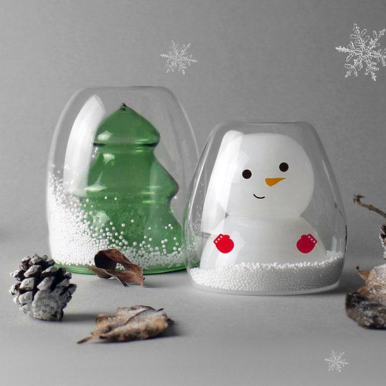 「ツリー」と「雪だるま」