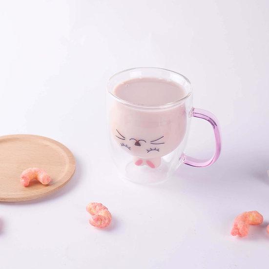 「うさぎマグ」ピンク