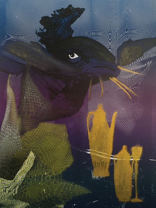 Salvador Dali. Black gives way to blue