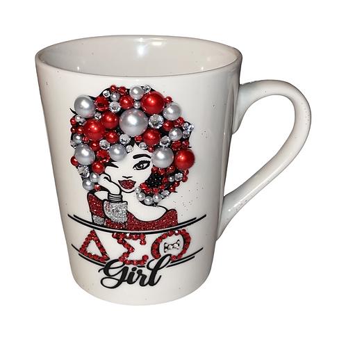 Sorority bling coffee mug