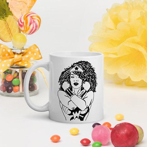 Afro Wonder Woman Mug