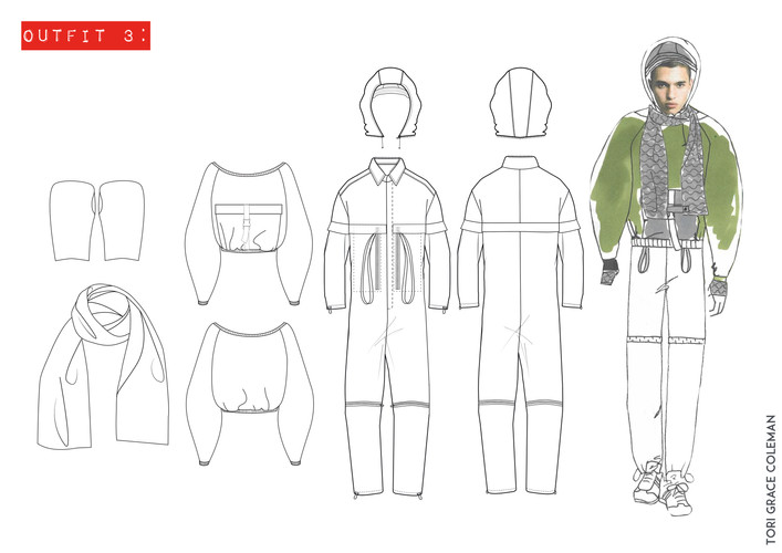 Outfit 3- Tech Drawings