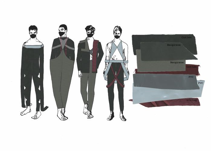 Digitally Rendered Lineup